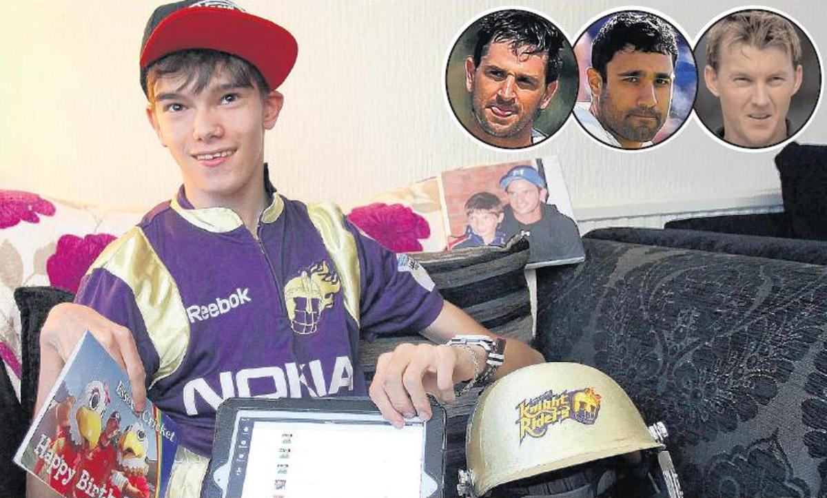 Birthday boy Connor and ten Doeschate, Bopara and Lee inset.