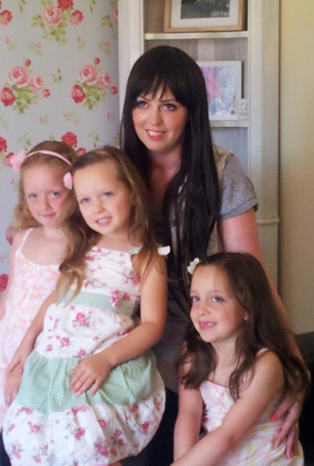 Essex County Standard: Survivor – Becky Felton with daughters Abigail, Ella and Poppy