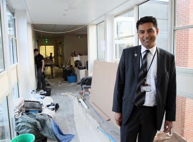 Refurbishment – Nardeep Sharma at his school's sixth form block