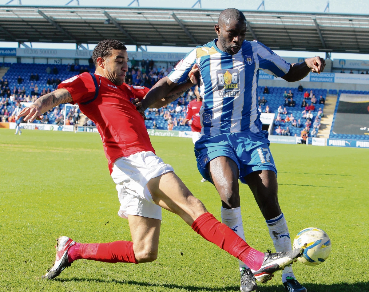 On target - Jabo Ibehre marked his return to Colchester's starting line-up with a goal against Preston.