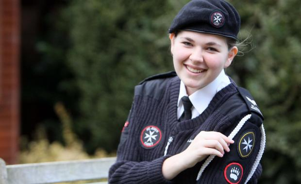 Essex County Standard: First aider Amy top of cadet class