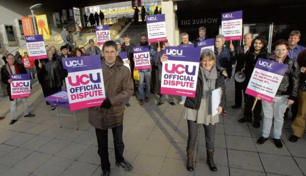 Lecturers and staff hold two hour pay strike