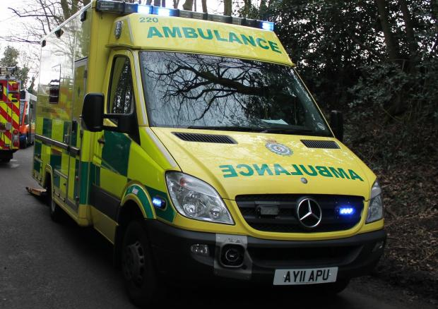 Three taken to hospital after car overturns outside Bradwell pub