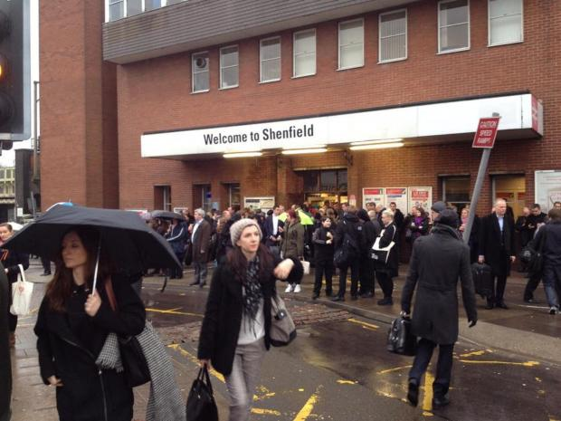 Picture of crowds at Shenfield Station taken by Ross McLellan