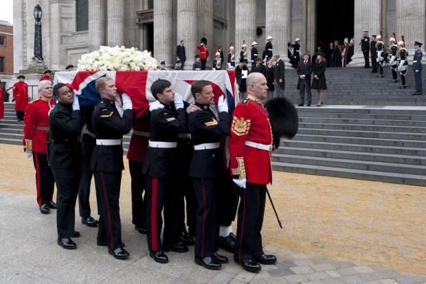 L/Cpl James Steel, pall bearer pictured second from left, carried Margaret Thatcher's coffin at her funeral.