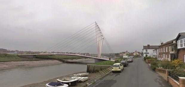 A Gazette artist's impression of how the bridge could look - not actual plans.