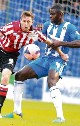 Return match - Magnus Okuonghae's Colchester are due to take on Sheffield United for the third time this season, having already played them in the league and the FA Cup. Picture: STEVE BRADING (CO86650-10)