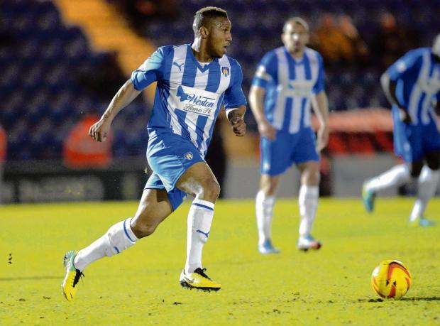 Memorable moment - Colchester United defender Alie Sesay made his debut in their 1-0 defeat at the hands of Sheffield United, on Tuesday night. Picture: STEVE BRADING (CO89565-108)