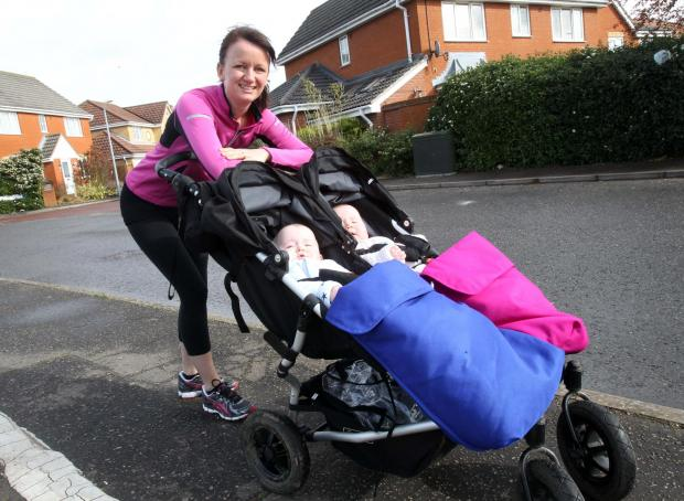 I'm training for half-marathon - with double buggy in tow
