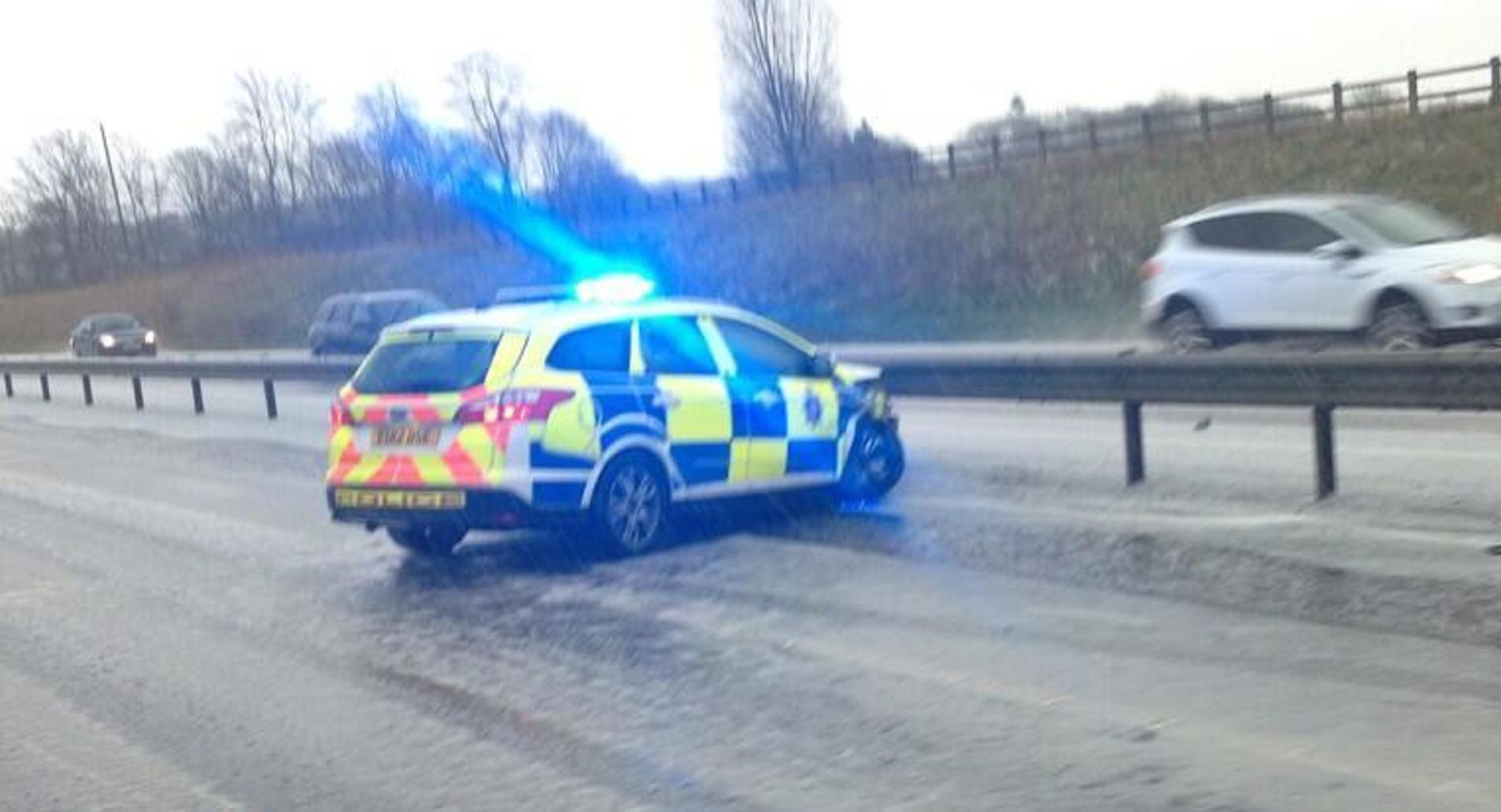 Hail storm causes A120 crashes (Picture: Keith Windard)