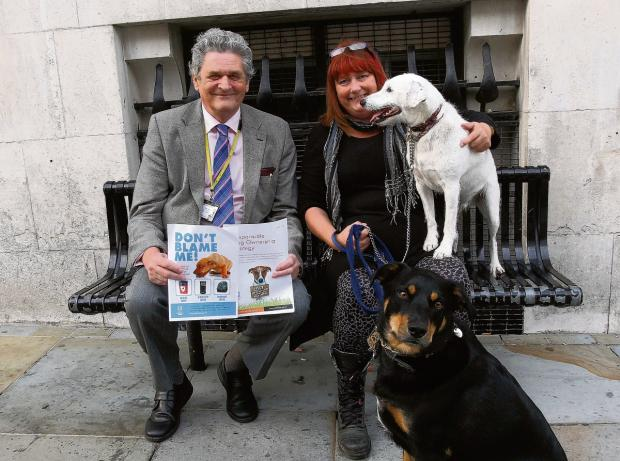 Martin Hunt at the launch of the responsible dog ownership strategy
