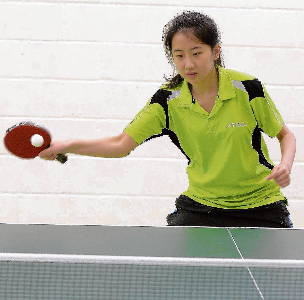 Champion performance - Jane Li was in outstanding form at the Colchester and District Table Tennis League's annual tournament. Picture: STEVE BRADING (CO91363-17)