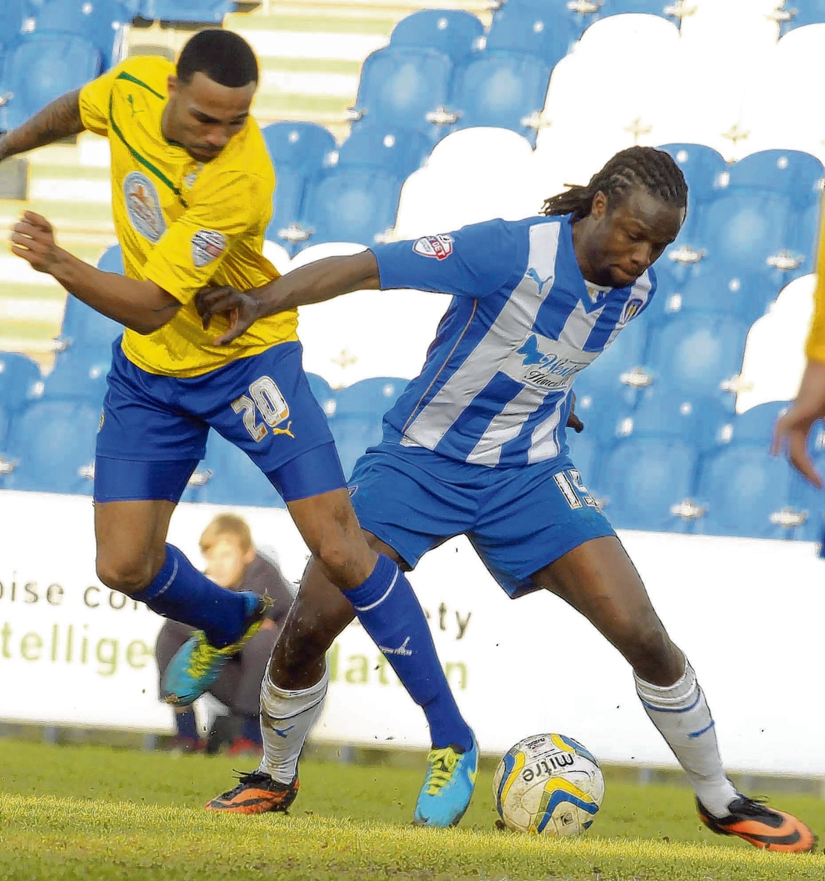 Sidelined - Marcus Bean is likely to miss Colchester United's friendly at Heybridge Swifts tonight with a knee injury.