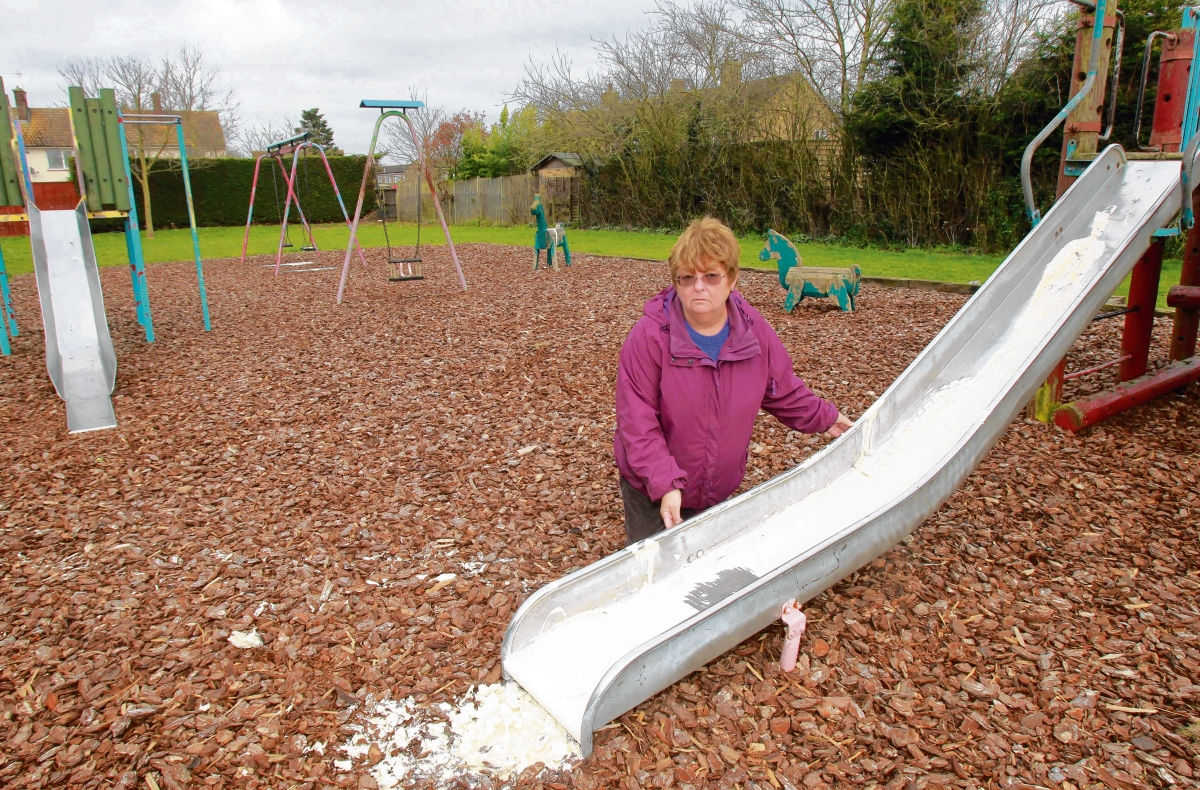 Playground closed after paint poured over equipment