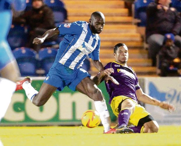 On the mend - Jabo Ibehre is said to be on the recovery trail after missing the U's last three games because of injury. Picture: STEVE BRADING (CO87590-40)