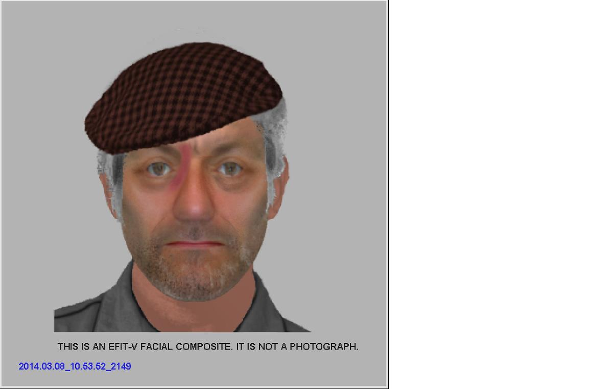 Efit released to try and find man accused of common assault
