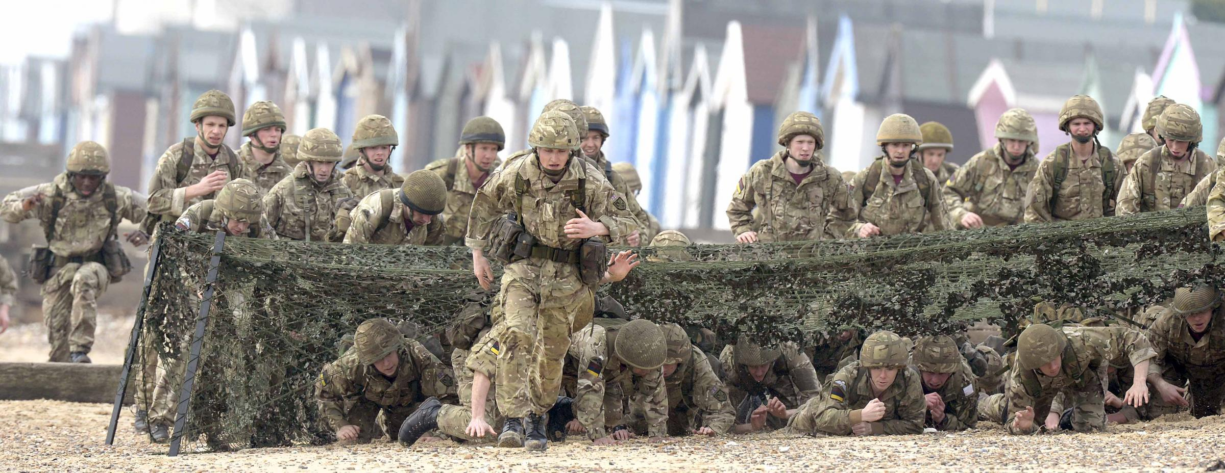 Colchester soldiers race to be the best on Mersea beach