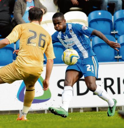 Focused - Gavin Massey knows it is vital that Colchester United stay in League One this season. Picture: SEANA HUGHES (CO90945-09)