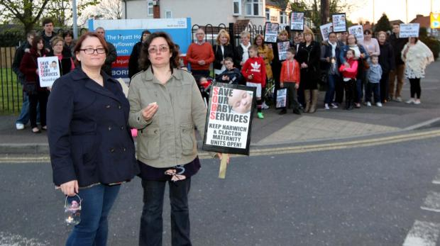 Essex County Standard: Mums protest over Harwich maternity unit closure