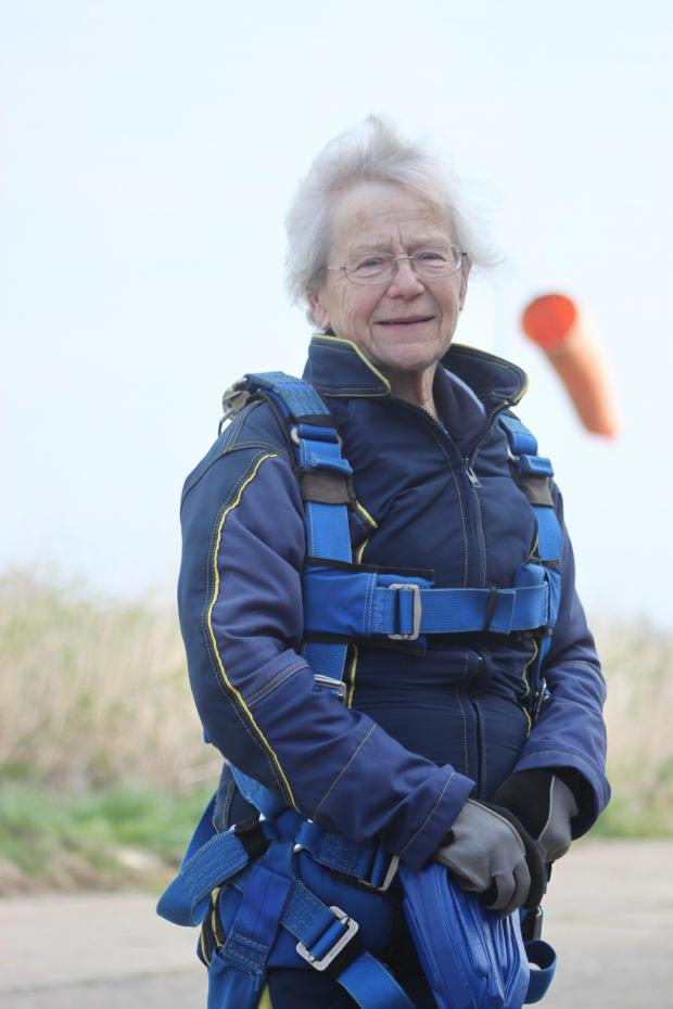 Essex County Standard: Pat, 77, takes her first flight... and leaps back to earth