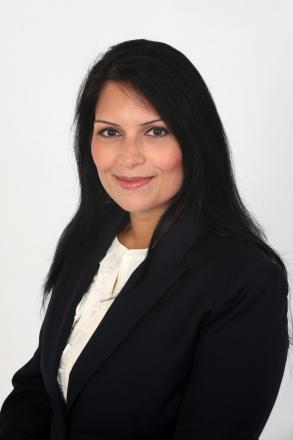 Priti Patel was tipped for promotion