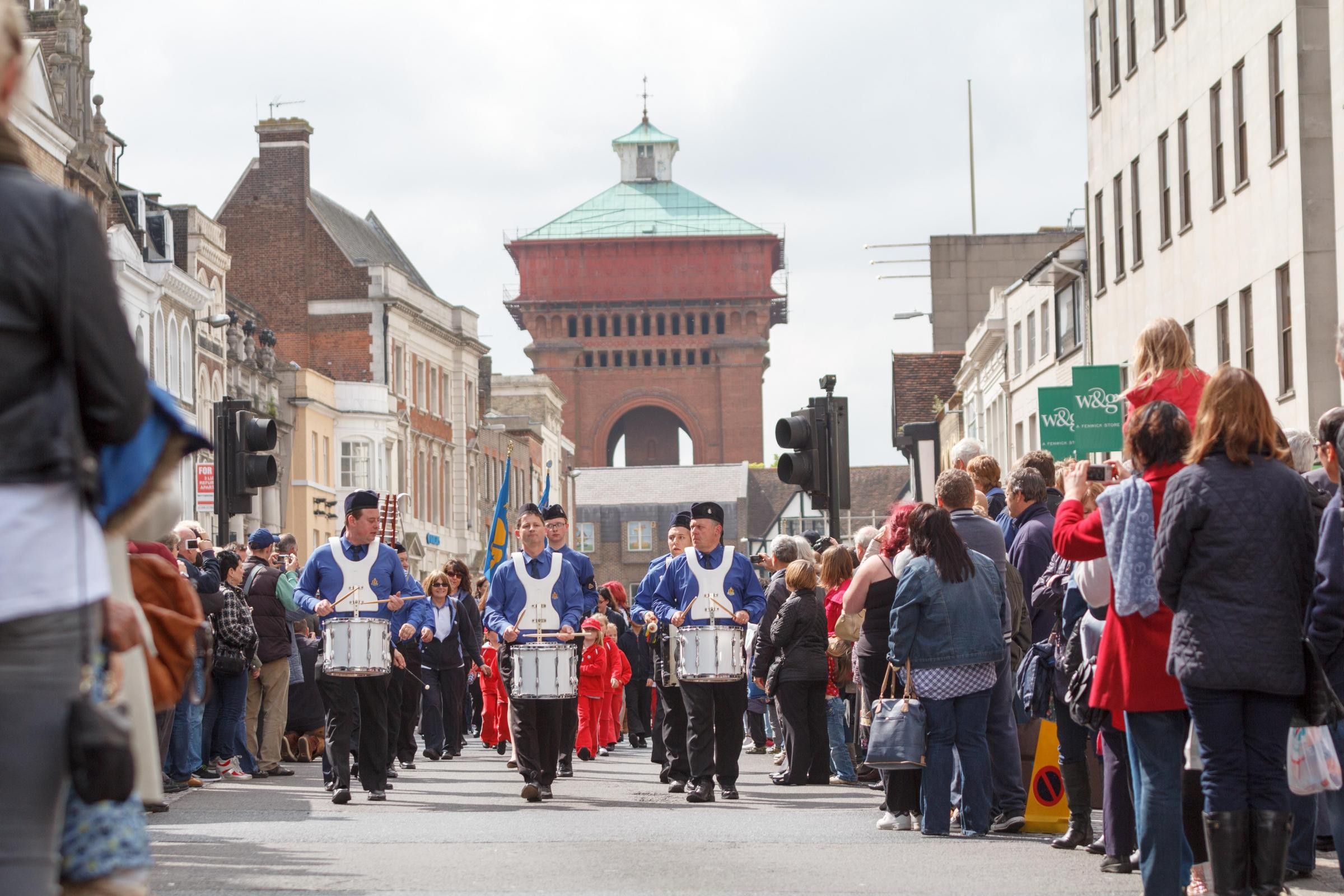 Thousands of Scouts and Guides mark St George's Day in Colchester parade