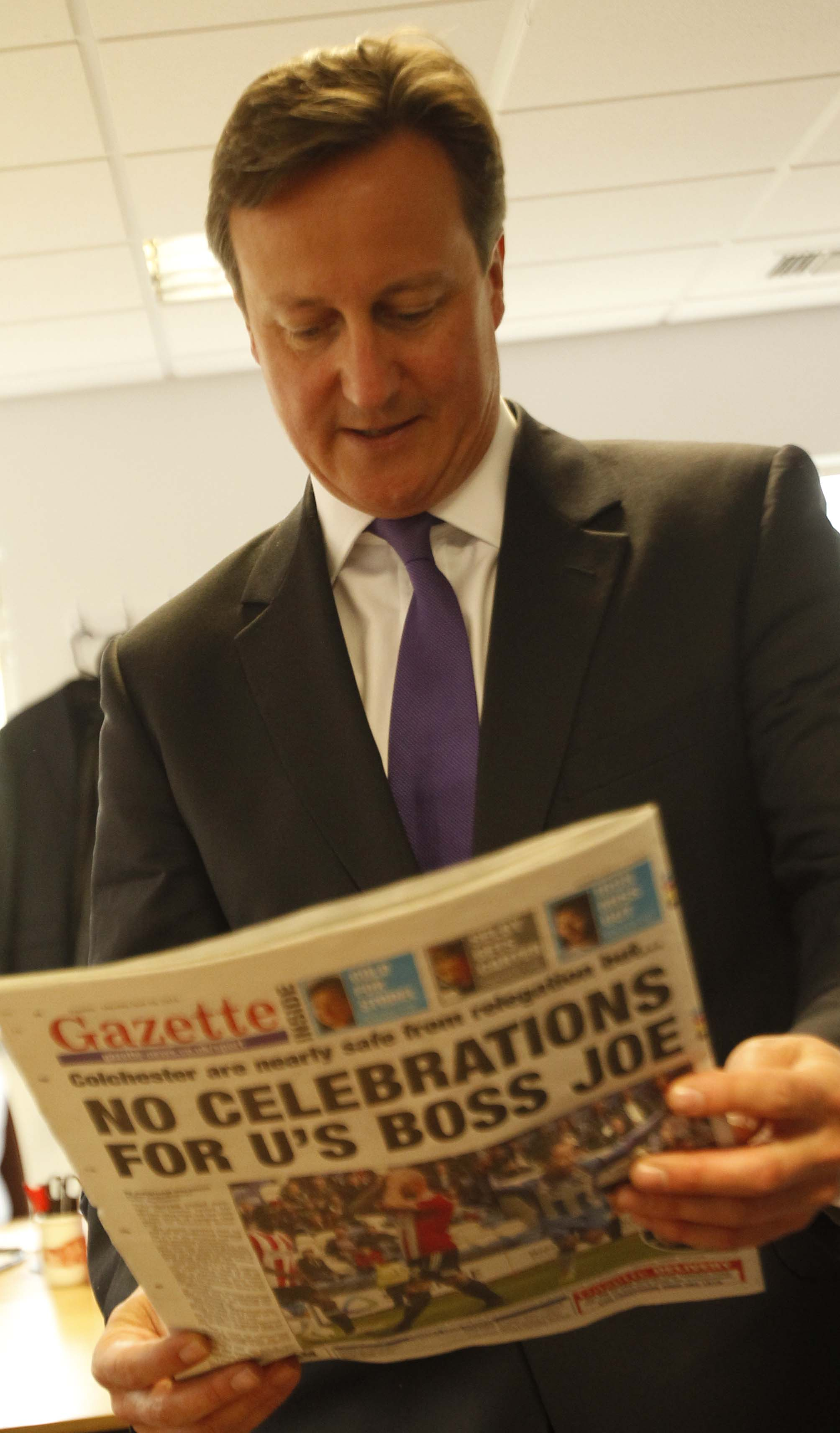Cameron praises our jobs crusade