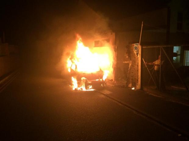 Reward offered to anyone who can identify car arsonists