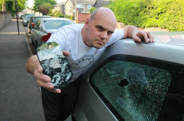 Cars smashed up in yobs' wrecking spree
