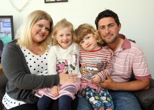 Jennie Chandler and her husband Chris and daughters Stella and Isla