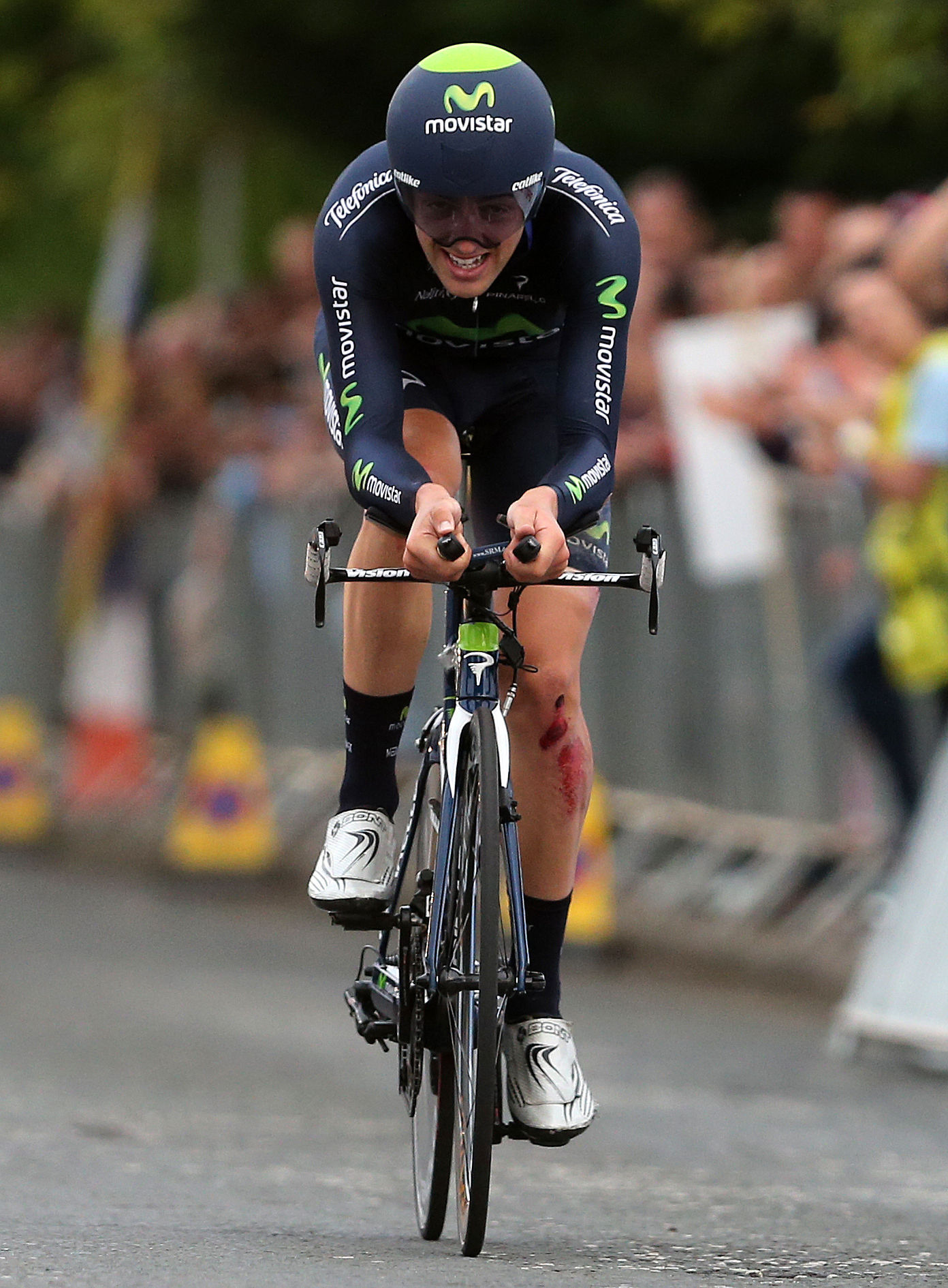 Alex Dowsett competing in the National Road Race Championships