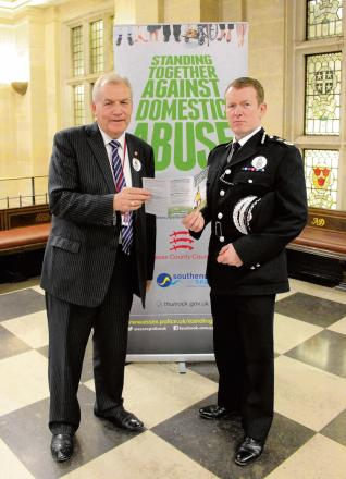 Dick Madden and Chief Constable Stephen Kavanagh at campaign launch