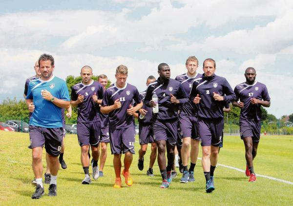 Making strides - Colchester United are currently preparing for the new League One season, which starts on August 9. Picture: STEVE ARGENT (CO96359-10)