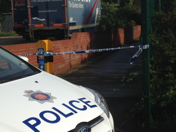 Police cordon off alleyway in Colchester