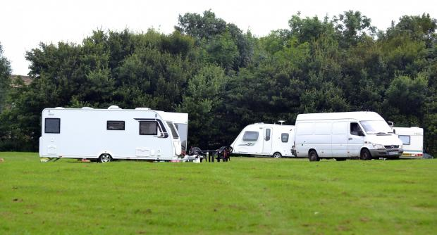 Travellers pitch up opposite Sainsbury's Tollgate store