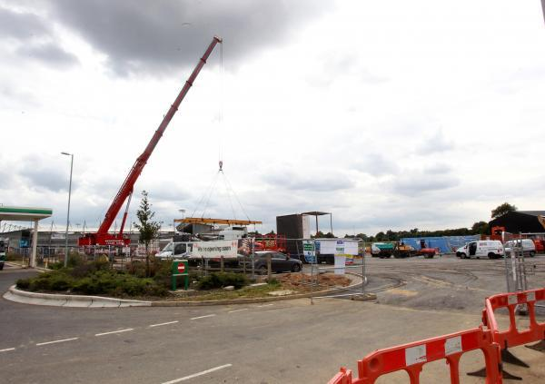 Work starts on Cuckoo Farm McDonald's and park and ride link