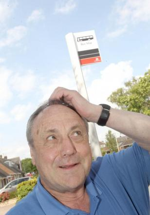 Why spend out on new bus stops for service that will be scrapped next month?