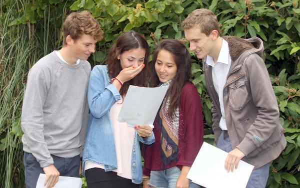 Students celebrate A Level success