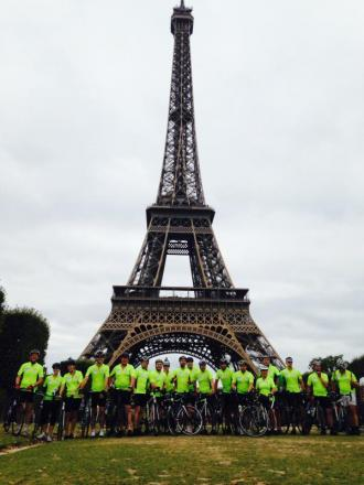 The 20 riders setting out from Paris