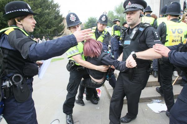 The EDL march in Colchester last year