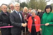 Sible Hedingham celebrating after footbridge is finally built