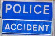 Delays on A12 as car hits central reservation