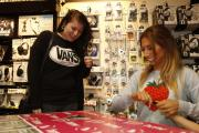 X Factor star Stacey Solomon signs copies of new album